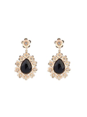 The Most Fashionable Occident All-match Floret Water Drop Temperament Hot Sale Earrings