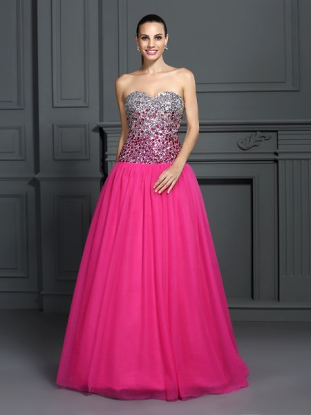 Fashion Ball Gown Sleeveless Long Sweetheart Organza Quinceanera Dresses