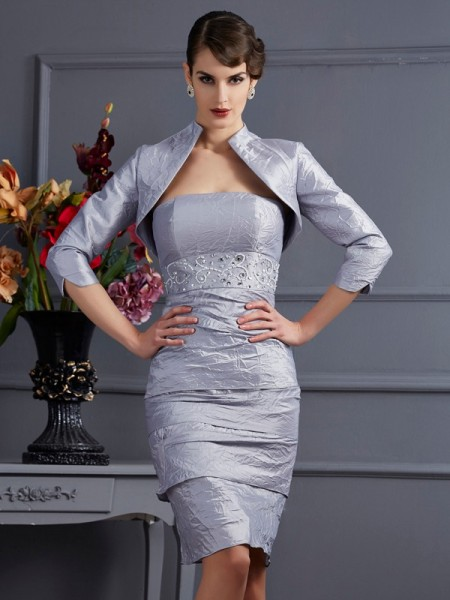 Fashion 3/4 Sleeves Special Occasion Taffeta Wrap