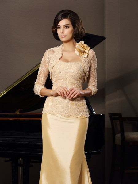 Stylish Lace Hand-made Flower 3/4 Sleeves Special Occasion Wrap