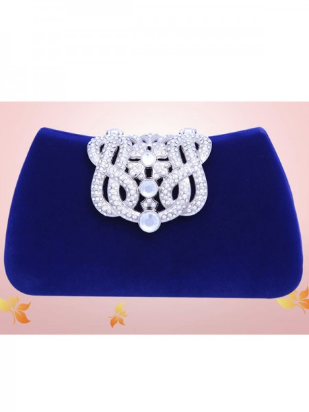 The Most Stylish Mini Rhinestone Flock Party/Evening Bags