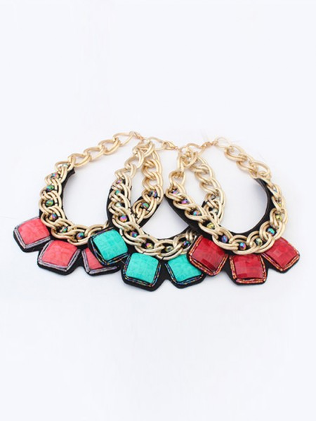 The Most Fashionable Occident Hyperbolic Metallic thick chains Personality Hot Sale Necklace