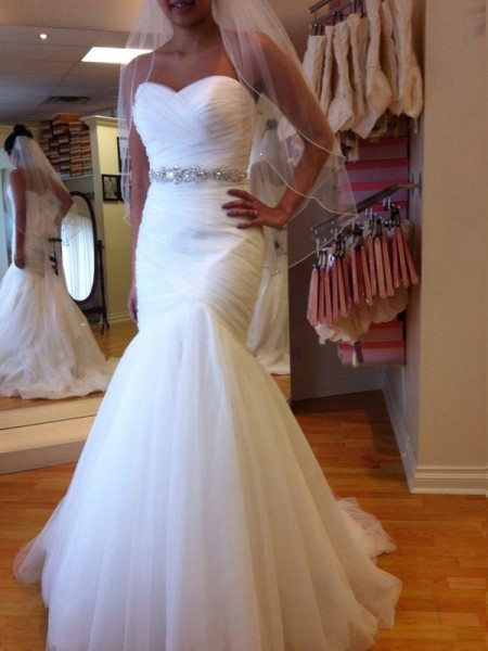 Fashion Trumpet/Mermaid Sweetheart Floor-Length Sleeveless Beading Tulle Wedding Dresses