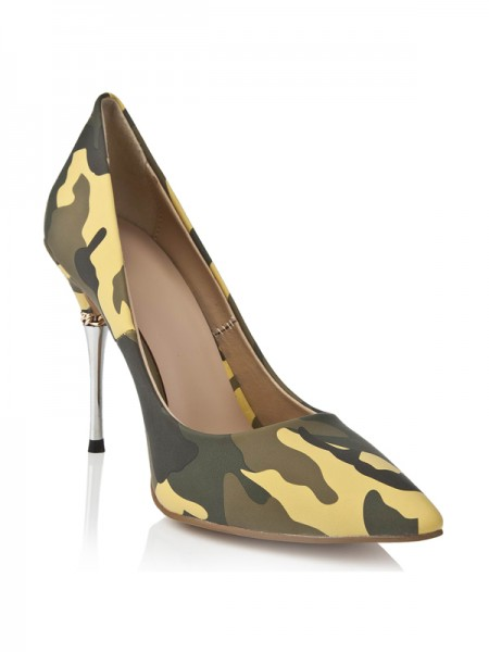 Fashion Trends Women's Stiletto Heel With Leopard Print Closed Toe High Heels