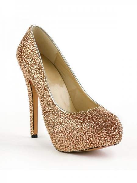 The Most Fashionable Women's Closed Toe Stiletto Heel Platform With Rhinestones Platform Platforms Shoes