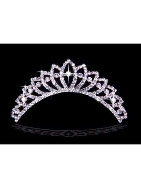 Stunning Alloy With Czech Rhinestones Wedding Headpieces