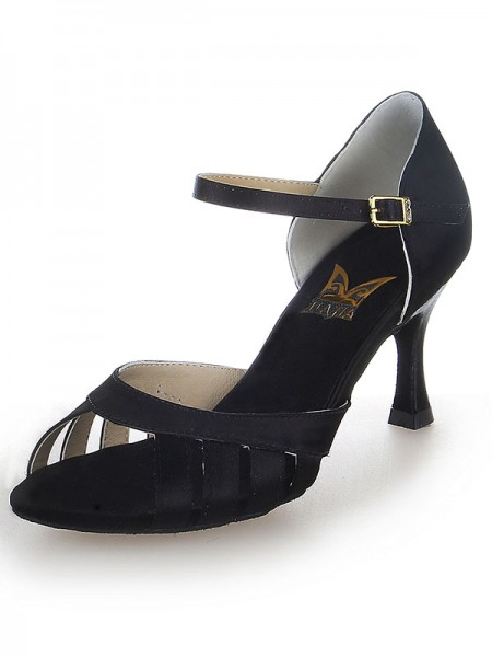 The Most Trendy Women's Satin Peep Toe Buckle Stiletto Heel Dance Shoes