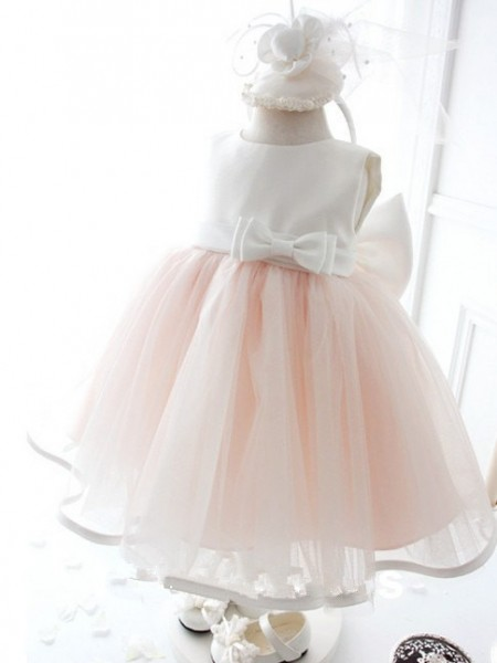 Fashion Trends Ball Gown Jewel Sleeveless Bowknot Long Organza Dresses